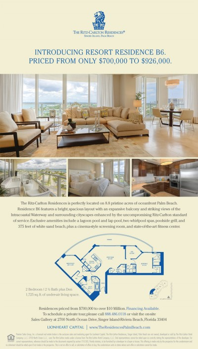 The Ritz-Carlton Residences, Singer Island, Palm Beach E-blast