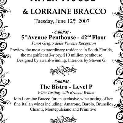 Las Olas River House Bracco Program Card
