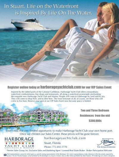 Harborage Yacht Club Ad
