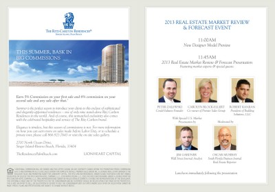 Ritz-Carlton Residences, Singer Island, Palm Beach Forecast Event