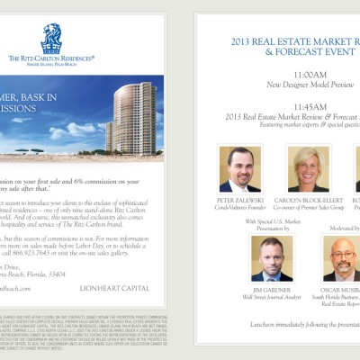 Ritz Palm Beach Forecast Event Flyer