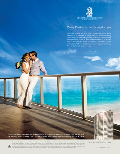 The Ritz-Carlton Residences, Singer Island, Palm Beach Ad