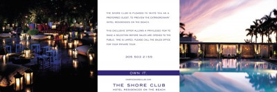 The Shore Club Mailer