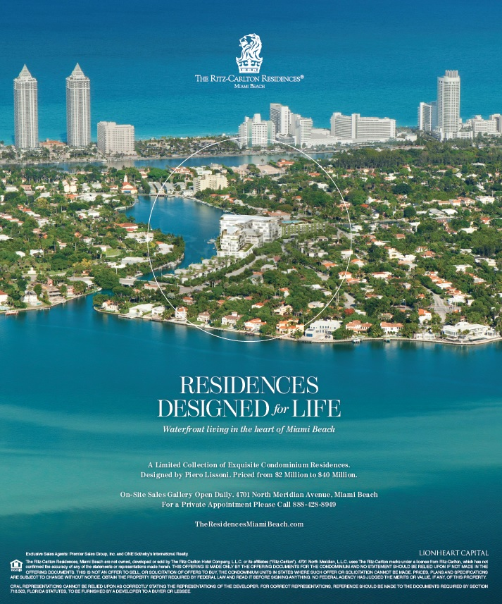 The Ritz Carlton Residences, Miami Beach Ad